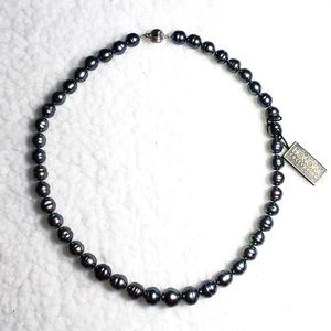 Honora Iridescent Black Blue Pearl Necklace